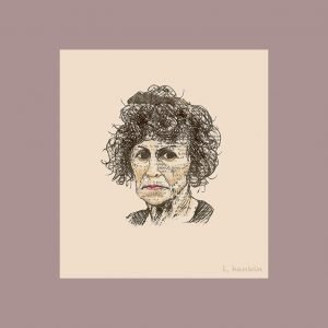 LADY & HAIR LARGE by Larry Hankin