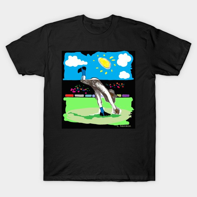 Art of the Pitch on Black Background T-shirts