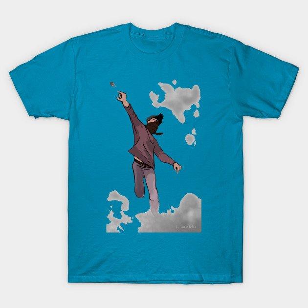 David on Blue Background T-Shirts