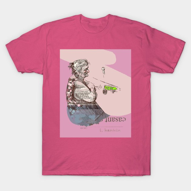 Happy Hour on Pink Background T-shirts