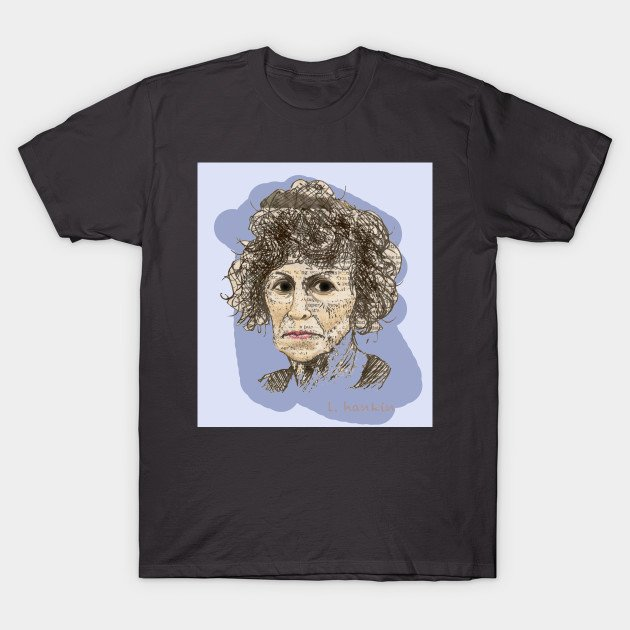 Lady & Hair on Lilac background T-shirts