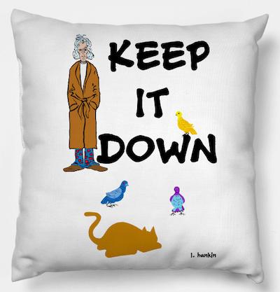 keep it down pillow