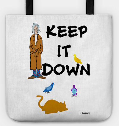 keep it down tote