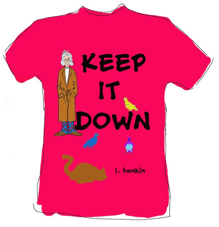 Keep It Down with Cat and Birds T-shirts